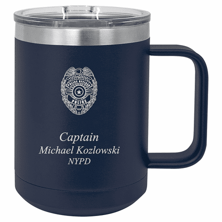 Police Officer's Personalized Insulated Polar Camel Coffee Mug