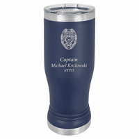 Police Officer's Personalized Polar Camel Stainless Steel Pilsner Glass