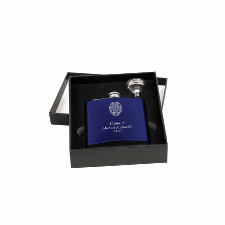 Police Officer's Personalized Flask & Funnel Gift Set