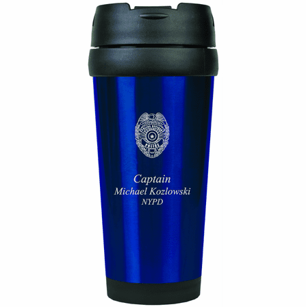 Police Officer's Personalized Travel Coffee Mug