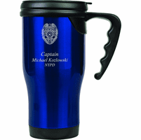 Police Officer's Personalized Travel Coffee Mug with Handle