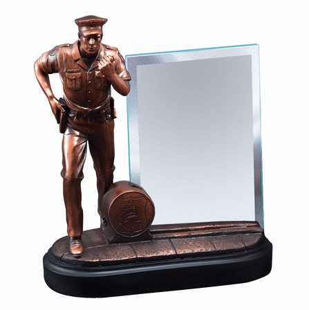 Police Officer with Walkie Talkie Personalized Award