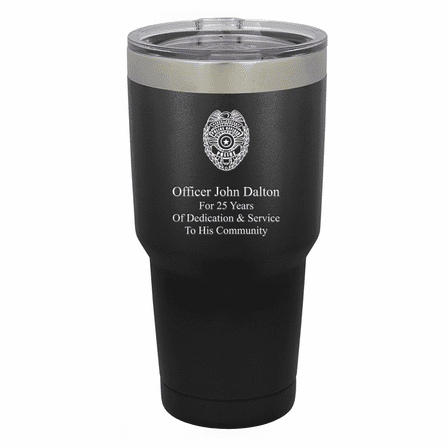 Police Shield Personalized 30 Ounce Tumbler