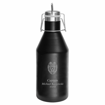 Police Shield Personalized 64 Ounce Growler