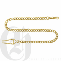 Polished Gold Plated Pocket Watch Chain