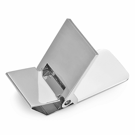 Polished Silver Engraved Hinged Money Clip