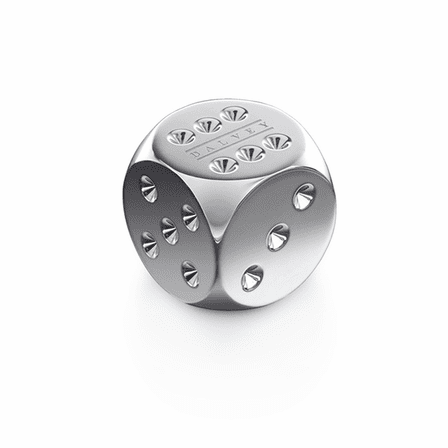 Polished Stainless Steel Dice Paper Weight by Dalvey