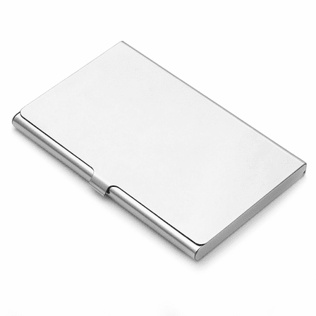 Polished Steel Business Card Case With Logo Option