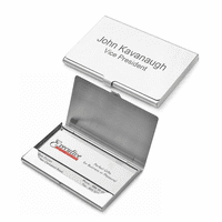 Polished Steel Engraved Business Card Holder