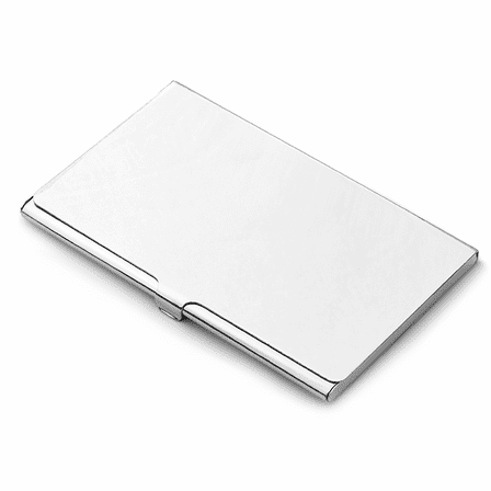 Polished Sterling Silver Engraved Business Card Case - Discontinued