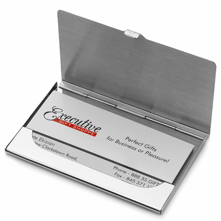 Polished Sterling Silver Engraved Business Card Case Discontinued