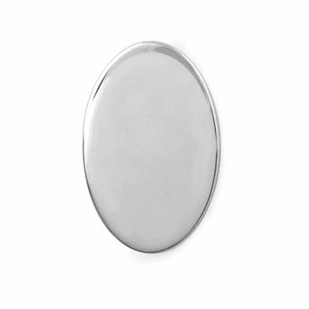 Polished Sterling Silver Oval Engravable Tie Tack