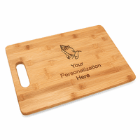Praying Hands Bamboo Cutting Board With Handle
