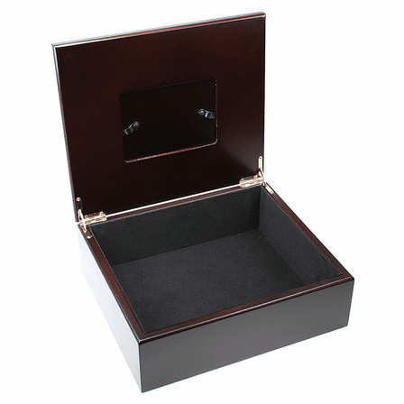 Praying Hands Personalized Keepsake Box With Picture Frame Lid