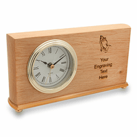 Praying Hands Red Alder Desk Clock