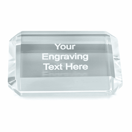Premier Crystal Rectangle Paper Weight