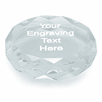 Premier Crystal Round Paper Weight