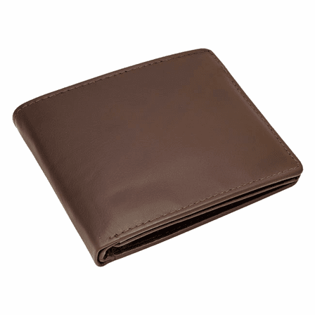 Premium Leather Men's Bifold Credit Card Wallet