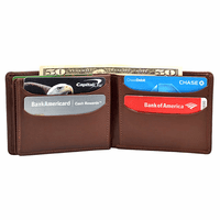 Premium Leather Men's Triple ID Wallet