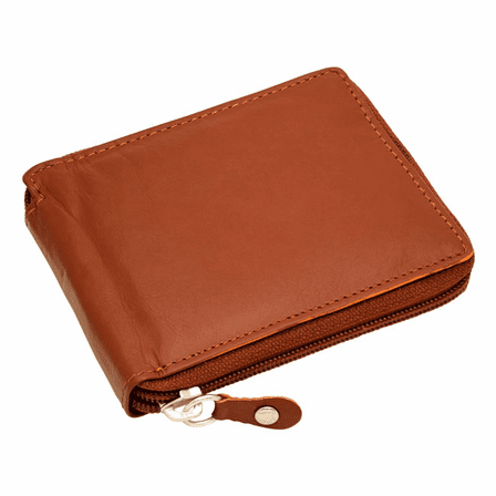 Premium Leather Men's Zipper Wallet