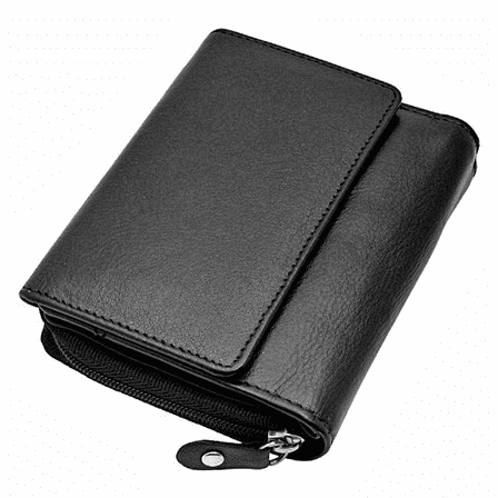Premium Leather Snap Closing  Wallet With Change Pouch