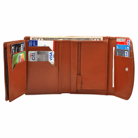 Premium Leather Snap Closing  Women's Credit Card Wallet