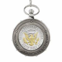 Presidential Seal Half Dollar Pocket Watch
