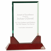 Prestige Rectangle Glass and Rosewood Award