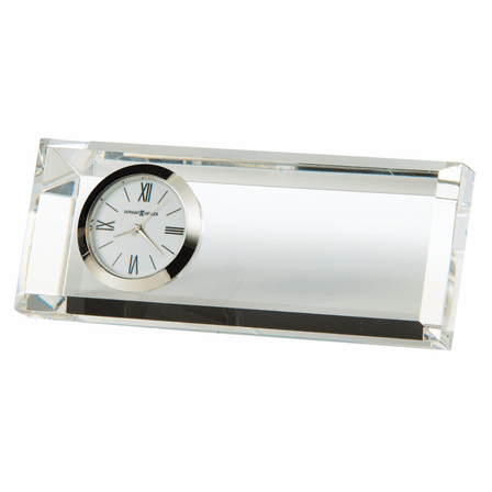Prism Crystal Desk Clock by Howard Miller