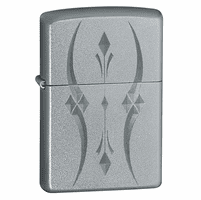Pristine Curves Satin Chrome Zippo Lighter - ID# 21155