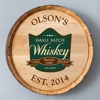 Private Label Personalized Whiskey Barrel Sign