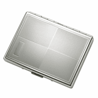 Quadrant Design Silver Engravable Cigarette Case for Kings and 100s