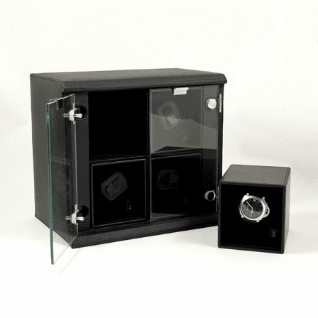 Quadruple Watch Winder With Removable Individual Winders