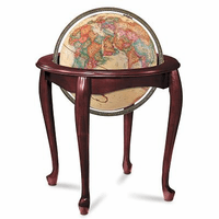 Queen Anne Floor Globe In Antique by Replogle Globes