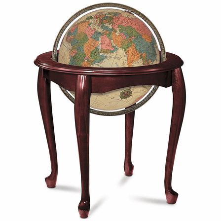 Queen Anne Floor Globe In Illuminated Antique by Replogle Globes