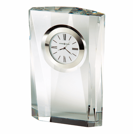 Quest Multi-Faceted Crystal Desk Clock by Howard Miller