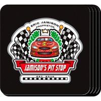 Racing Pit Stop Coaster Set - Free Personalization