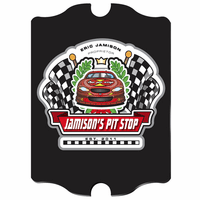 Racing Pit Stop Vintage Pub Sign - Free Personalization
