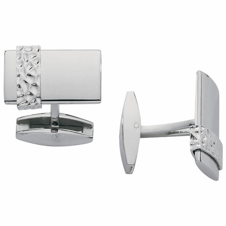 Rage Collection Stainless Steel & Sterling Silver Cufflinks