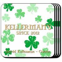 Raining Clovers Coaster Set - Free Personalization