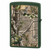 RealTree APG Green Matte Zippo Lighter - ID# 28079 - Discontinued