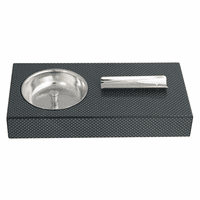 Rectangular Carbon Fiber Cigar Ashtray