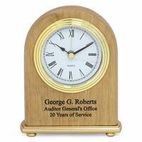 Red Alder Personalized Dome Desk Clock