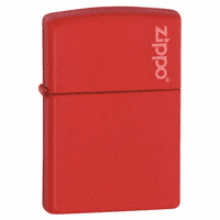 Red Matte with Zippo Logo Zippo Lighter - ID# 233ZL