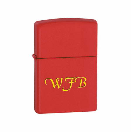 Red Matte without Zippo Logo Zippo Lighter - ID# 233
