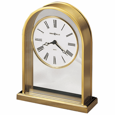 Reminisce Brass Finish Arch Table Clock by Howard Miller