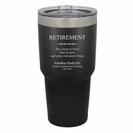 Retirement Theme Personalized 30 Ounce Tumbler