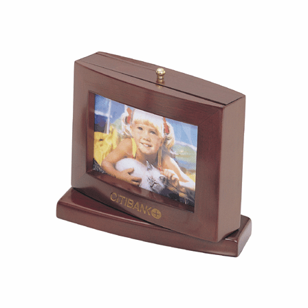 Revolving Rosewood Desktop Photo Frame