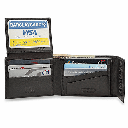 RFID Blocking Bifold Wallet With Secure Closure