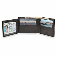 RFID Blocking Secret Compartment Wallet With Side ID Flap